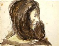 female portrait by bob thompson