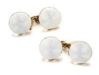 a pair of cufflinks by erik august kollin