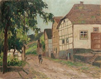 dorfstraße by otto ackermann