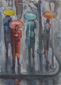 frauen mit regenschirmen by roberto marcello baldessari
