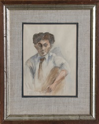 portrait of a man by raphael soyer