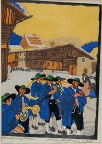 dorfkonzert in tirol by robert a. saurwein