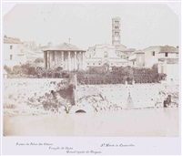 temple de vesta, ruines du palais des c by enrico béguin