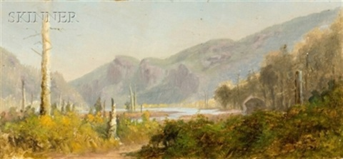 landscape with mountains by frank hector tompkins
