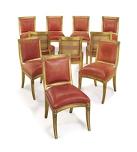 dining chairs (set of 10) by j. robert scott