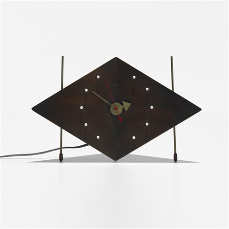 kite table clock, model 2217d by george nelson & associates