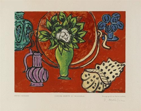 nature morte au magnolia by henri matisse