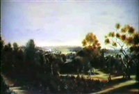 botanical gardens, melbourne 1879 by william short
