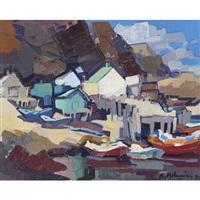 fishing village by pierre aslanian