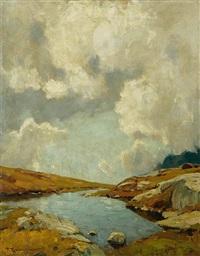 landschaft mit gewässer by fritz wilhelm rabending