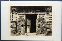 hullabeed. the great temple, southern door in east front, pl.xii (from architecture in dhawar and mysore) by william henry pigou