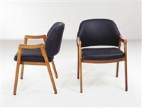 otto sedie con braccioli 814 by ico parisi