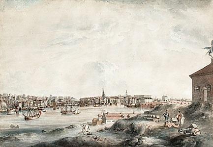 utsigt af stockholm tagen från castelholmen by johan fredrik martin