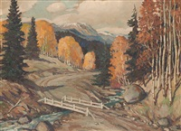 autumn landscape by carl von hassler
