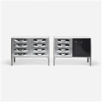 df-2000 cabinets (pair) by raymond fernand loewy