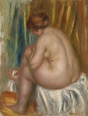 étude de nu après le bain by pierre auguste renoir