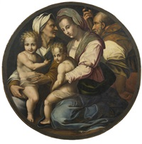 holy family with saints elizabeth and john the baptist by andrea del sarto