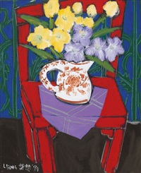 flower on a chair by liang yifen