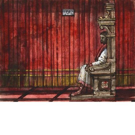 stage design for verdi's opera otello by eugene berman