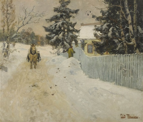 paysage dhiver by frits thaulow