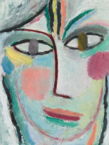 frauenkopf femina head of a woman femina by alexej jawlensky