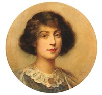 portrait de femme by paul de laboulaye