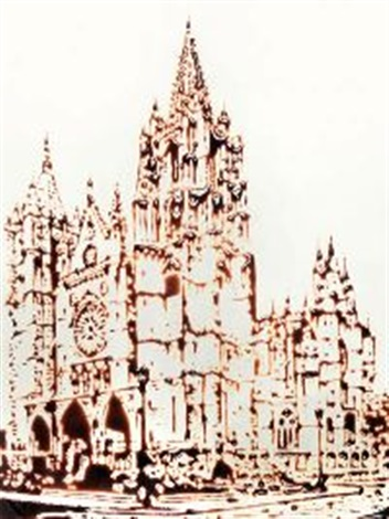 cathedral leon della serie picture of chocolate by vik muniz