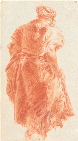 study figure seen from behind by giovanni battista tiepolo