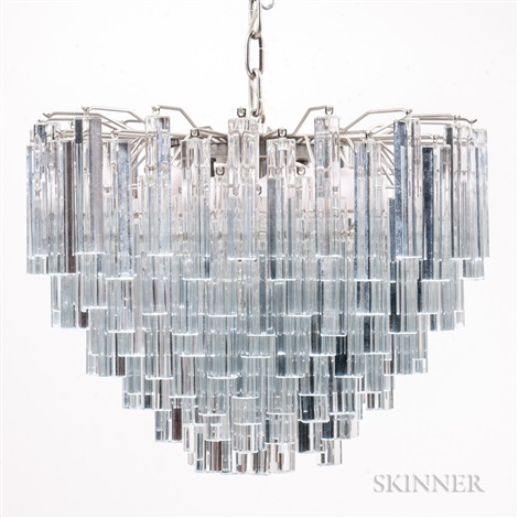 Venini three tier chandelier with murano glass prisms by venini co venini three tier chandelier with murano glass prisms by venini co mozeypictures Images