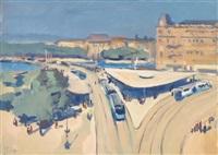 paar stadtansichten vom bellevue platz und vom bahnhofplatz in zürich by roberto marcello baldessari