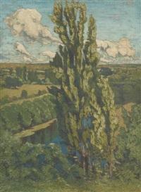 les peupliers d'italie by joseph louis lépine