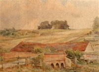 bridge over the itchen near winchester by herbert w. neville