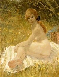a female nude by harry maas