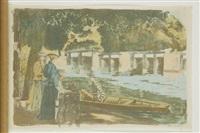 l'embarquement ou la partie de canot by alexandre lunois