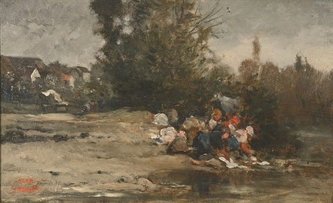 the washer women by charles françois daubigny