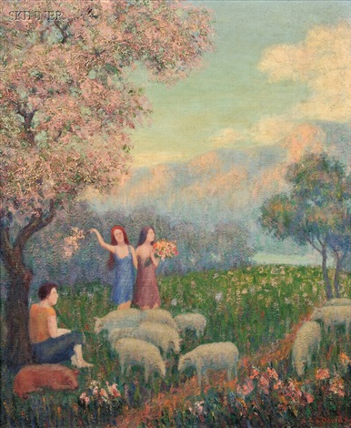 shepherdess by arthur bowen davies