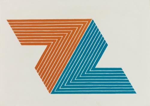 v series: ifafa i, ifafa ii, itata (3 works) by frank stella