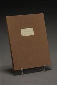 les chemins des devins (portfolio w/9 works); derrière le miroir (portfolio w/4 works) by eduardo chillida