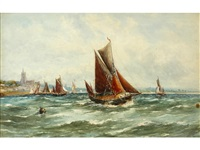 off malden; newlyn beach (pair) by robert malcolm lloyd