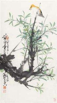柳枝黄鹂 by xu chunyuan