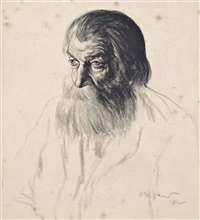 head of an elderly man by jacob kramer