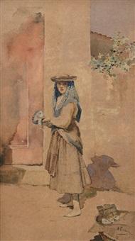 venditrice di pesce by francesco giuseppe casanova