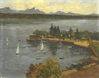 vue d'ouchy by pino pessina du castarrida
