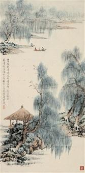 游春图 by jiang xiaoyou