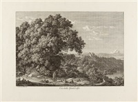 castella gandolfo (from malerisch radirte prospecte aus italien) by johann christian reinhart