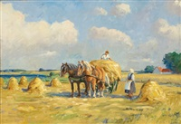 corn harvest by johs. andersen