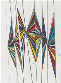 untitled (seven wings) by mark grotjahn