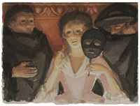 study for un ballo in maschera by george tooker