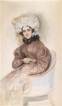 bildnis einer sitzenden dame mit rüschenhaube by emanuel thomas peter