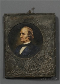 portrait of boston abolitionist wendell phillips by peter baumgras